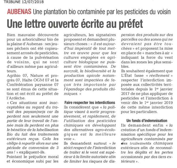 Article lettre contam Bio - Tribune du 12 07 18-1.jpg