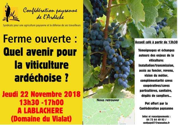 Ferme ouverte Lablachère 22 Nov 2018