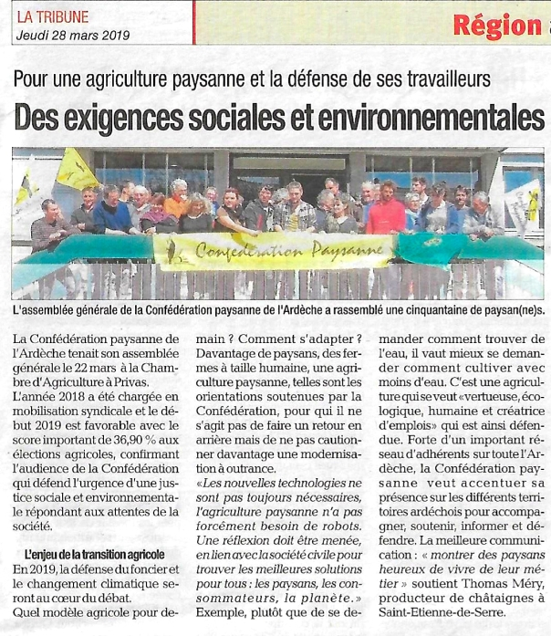 Article AG 2019 - La Tribune - 28032019.jpg