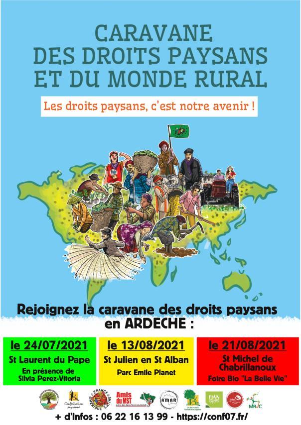 Affiche caravane Ardèche